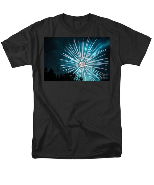 Men's T-Shirt  (Regular Fit) featuring the photograph Fire Flower by Suzanne Luft