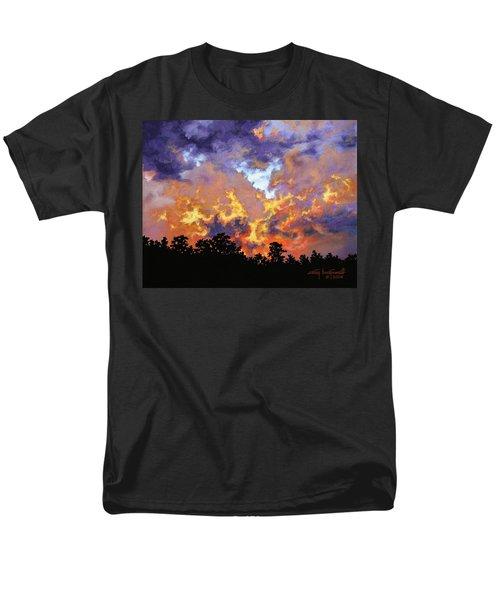 Fire In The Sky Men's T-Shirt  (Regular Fit) by Craig T Burgwardt