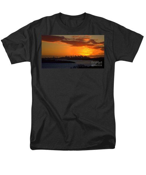 Men's T-Shirt  (Regular Fit) featuring the photograph Fire In The Sky by Miroslava Jurcik