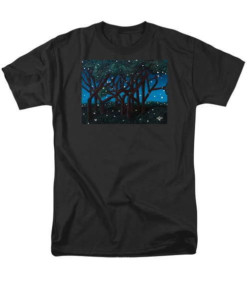 Men's T-Shirt  (Regular Fit) featuring the painting Fireflies by Cheryl Bailey