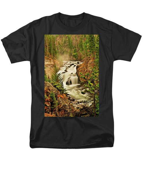Men's T-Shirt  (Regular Fit) featuring the photograph Firehole Falls by Greg Norrell