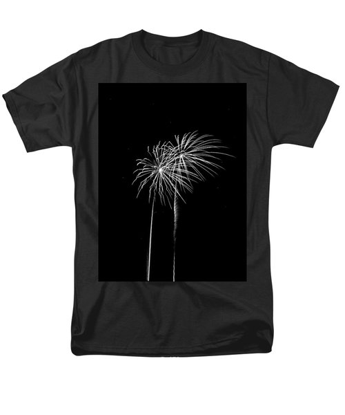 Firework Palm Trees Men's T-Shirt  (Regular Fit) by Darryl Dalton