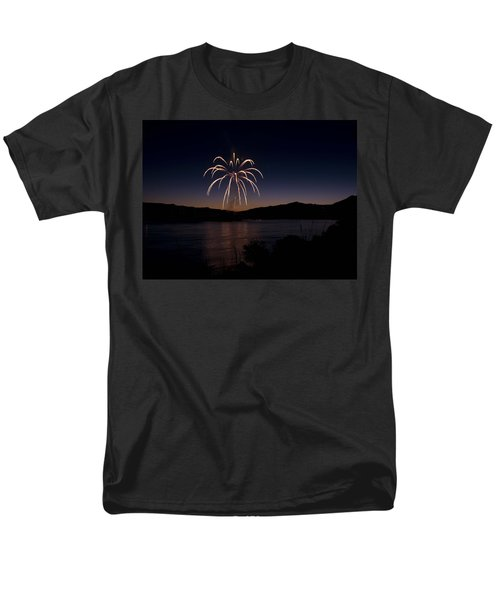 Men's T-Shirt  (Regular Fit) featuring the photograph Fireworks 11 by Sonya Lang