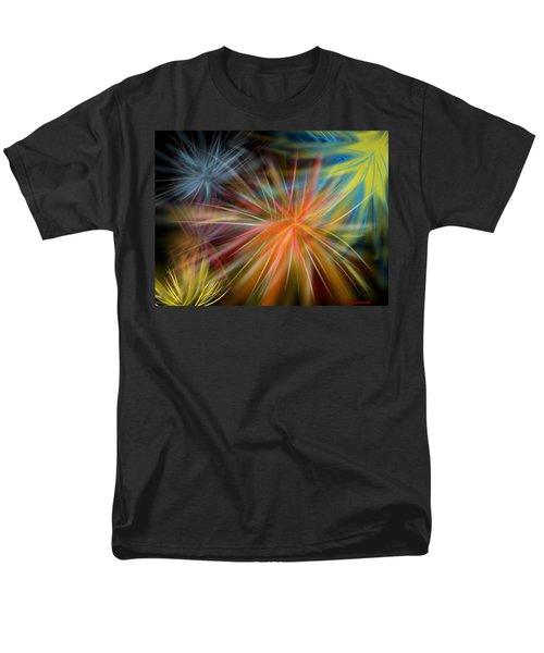 Men's T-Shirt  (Regular Fit) featuring the digital art Fireworks by Christine Fournier