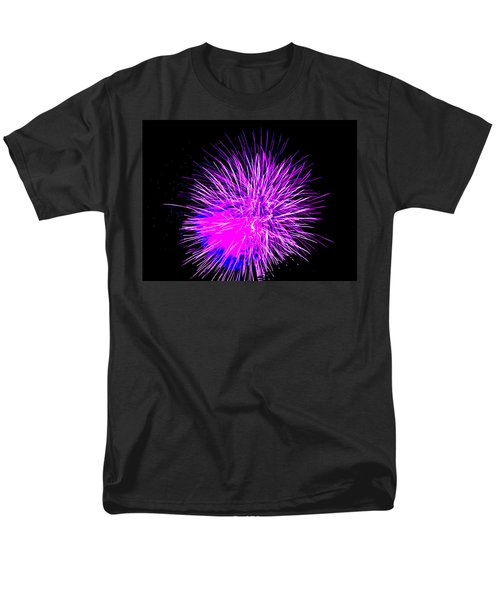 Fireworks In Purple Men's T-Shirt  (Regular Fit) by Michael Porchik