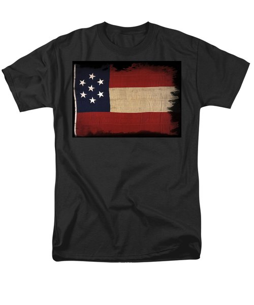 First Confederate Flag Men's T-Shirt  (Regular Fit) by Daniel Hagerman