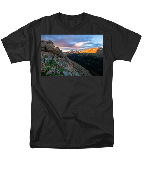First Light On The Mountain Men's T-Shirt  (Regular Fit) by Ronda Kimbrow