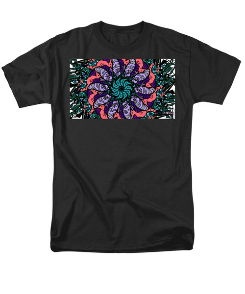 Men's T-Shirt  (Regular Fit) featuring the digital art Fish / Seahorse #2 by Elizabeth McTaggart
