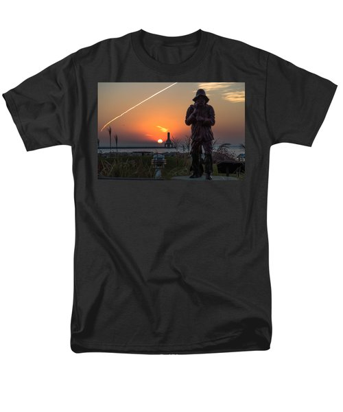 Fisherman Sunrise Men's T-Shirt  (Regular Fit) by James  Meyer