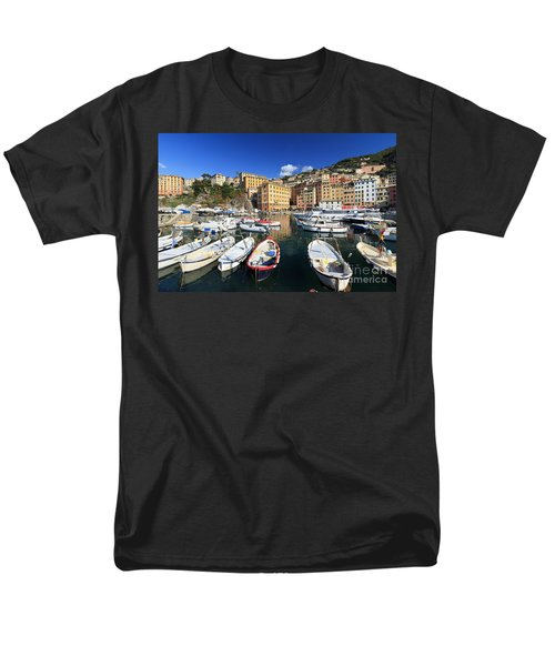 Men's T-Shirt  (Regular Fit) featuring the photograph fishing boats in Camogli by Antonio Scarpi