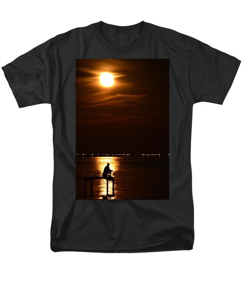 Fishing By Moonlight01 Men's T-Shirt  (Regular Fit) by Jeff at JSJ Photography