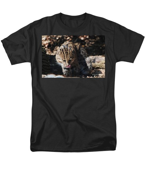 Fishing Cat Men's T-Shirt  (Regular Fit) by DejaVu Designs