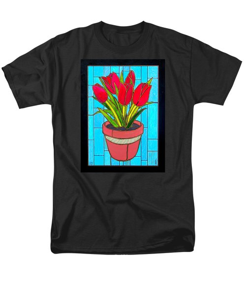 Five Red Tulips Men's T-Shirt  (Regular Fit)