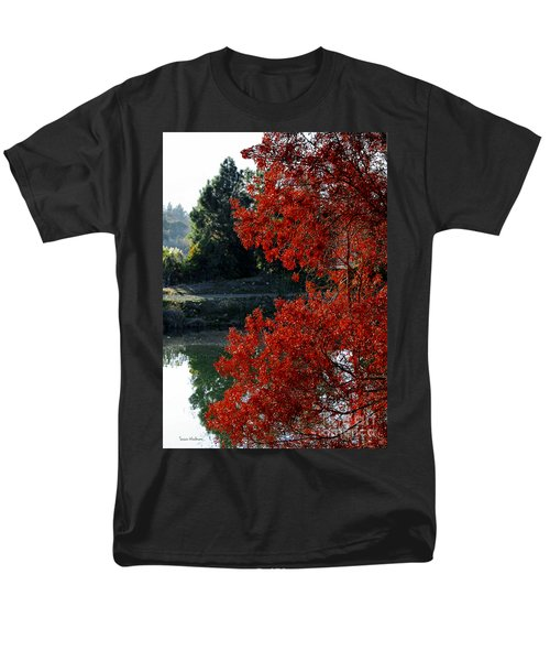 Flame Red Tree Men's T-Shirt  (Regular Fit) by Susan Wiedmann