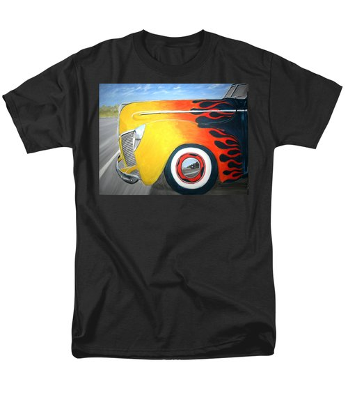 Men's T-Shirt  (Regular Fit) featuring the painting Flames by Stacy C Bottoms