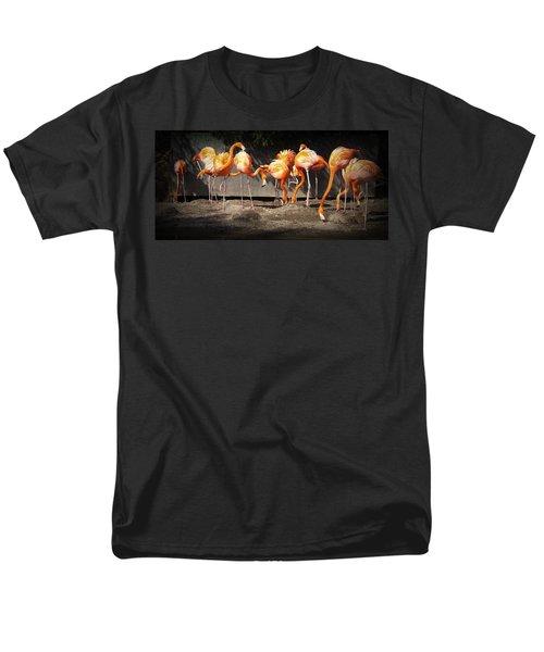 Flamingo Hangout Men's T-Shirt  (Regular Fit) by Sara  Raber