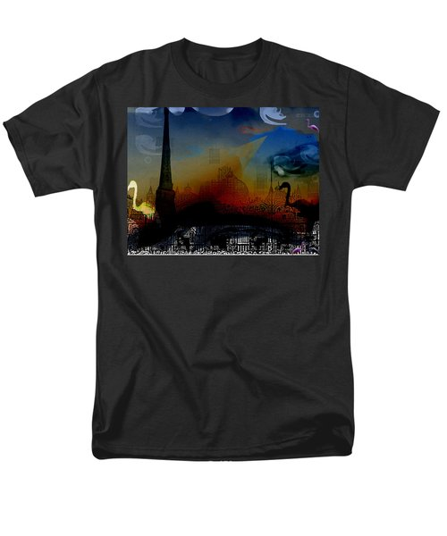 Men's T-Shirt  (Regular Fit) featuring the digital art Flamingo Pink Gone by Cathy Anderson
