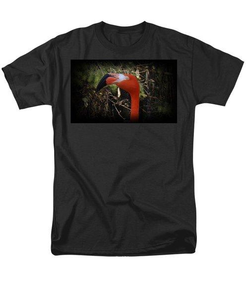 Flamingo Profile Men's T-Shirt  (Regular Fit) by Sara  Raber
