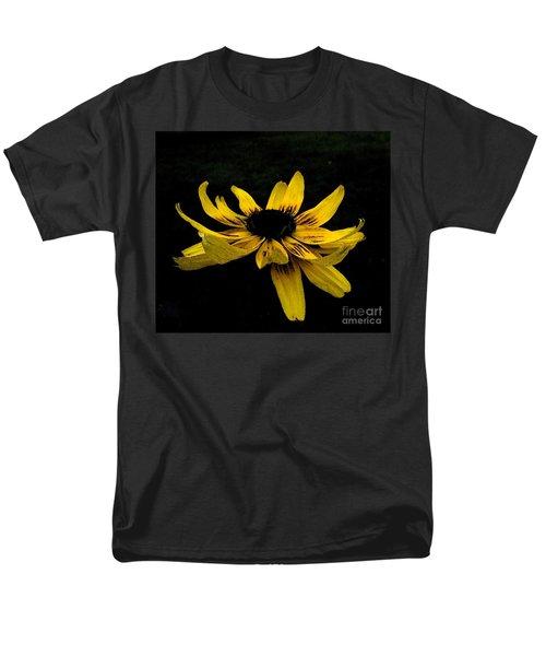Men's T-Shirt  (Regular Fit) featuring the photograph  Black Eyed Susan Suspense by Ecinja