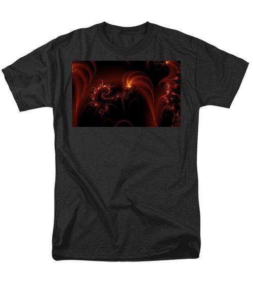 Floating Fire Fractal Men's T-Shirt  (Regular Fit) by Fran Riley