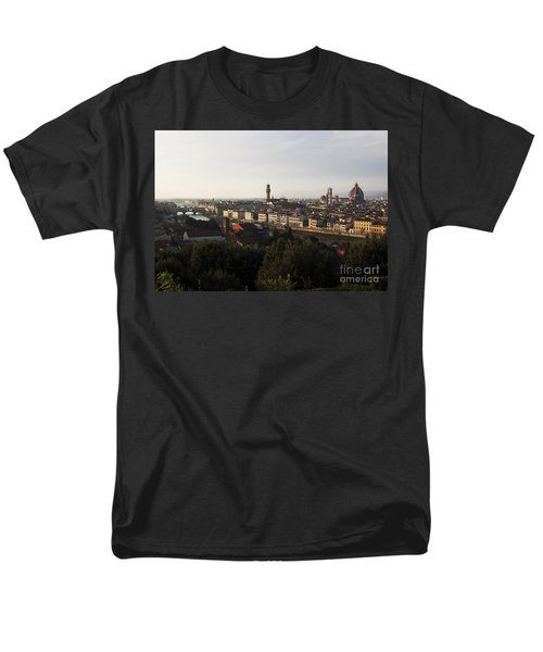 Men's T-Shirt  (Regular Fit) featuring the photograph Florence Form The Piazza Michalengelo by Belinda Greb