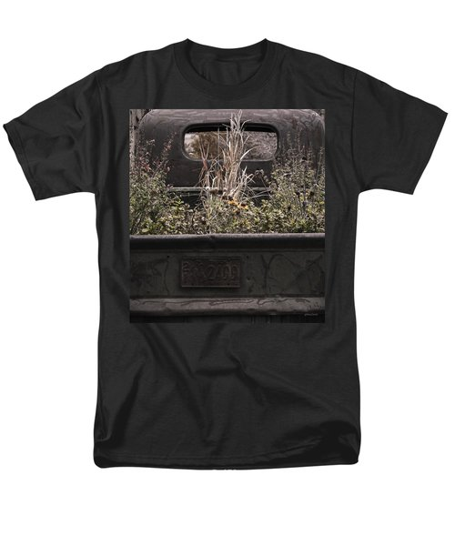 Men's T-Shirt  (Regular Fit) featuring the photograph Flower Bed - Nature And Machine by Steven Milner