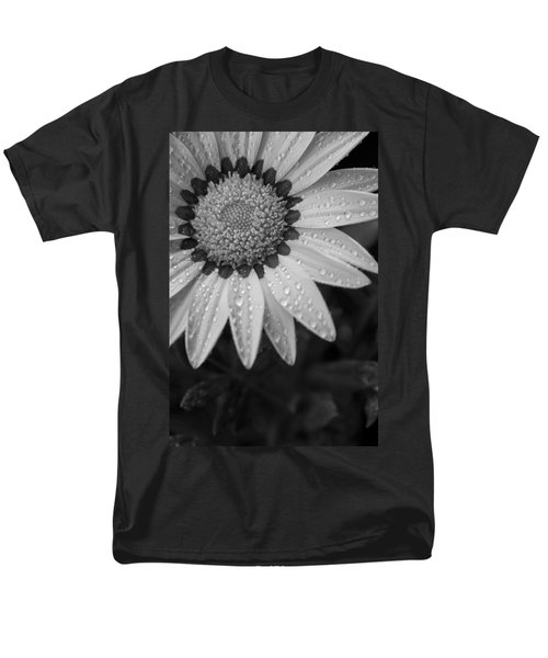 Flower Water Droplets Men's T-Shirt  (Regular Fit) by Ron White