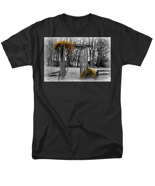 Men's T-Shirt  (Regular Fit) featuring the photograph Flowering Archway by Tara Potts