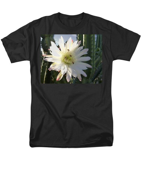 Men's T-Shirt  (Regular Fit) featuring the photograph Flowering Cactus 5 by Mariusz Kula