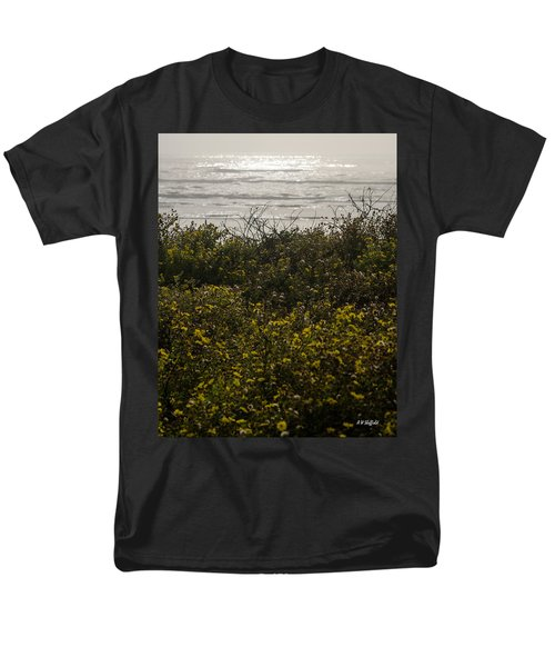 Flowers And The Sea Men's T-Shirt  (Regular Fit) by Allen Sheffield