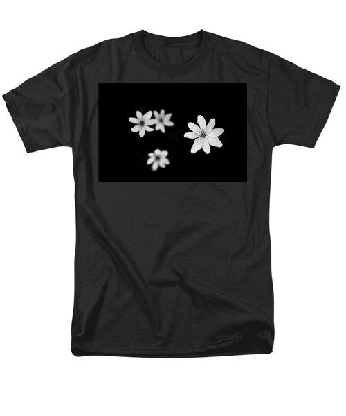 Flowers In Black Men's T-Shirt  (Regular Fit)