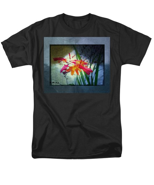 Men's T-Shirt  (Regular Fit) featuring the digital art Flowers On Parchment by Absinthe Art By Michelle LeAnn Scott