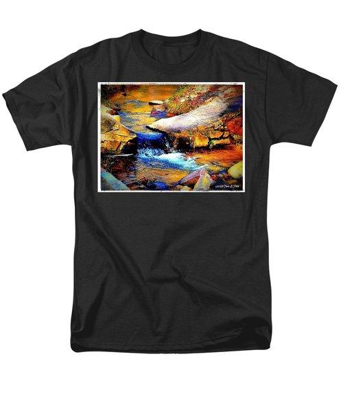 Men's T-Shirt  (Regular Fit) featuring the photograph Flowing Creek by Tara Potts