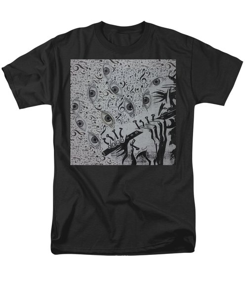 Men's T-Shirt  (Regular Fit) featuring the mixed media Flute Concerto In Eye Minor by Douglas Fromm