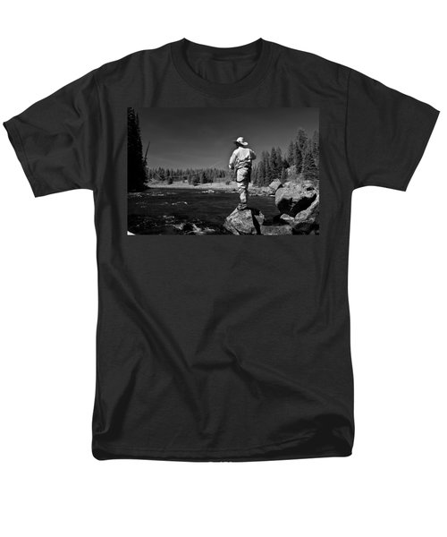 Men's T-Shirt  (Regular Fit) featuring the photograph Fly Fishing The Box by Ron White