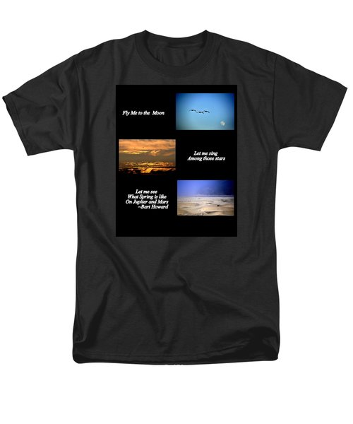 Men's T-Shirt  (Regular Fit) featuring the photograph Fly Me To The Moon by AJ  Schibig