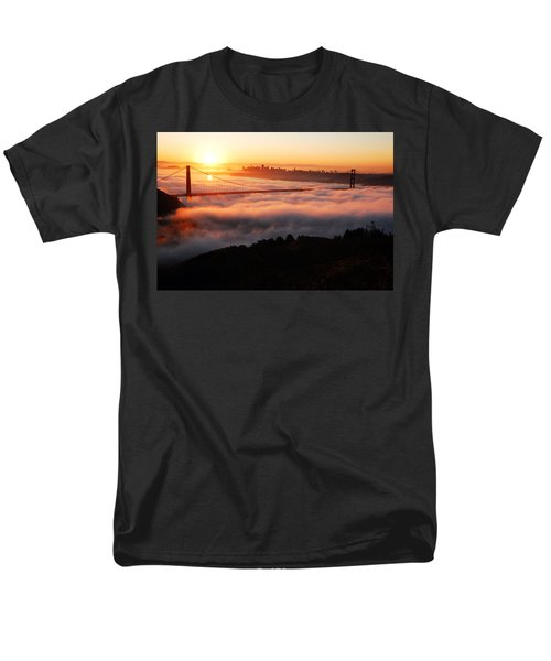 Men's T-Shirt  (Regular Fit) featuring the photograph Foggy Morning San Francisco by James Kirkikis