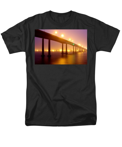 Foggy Navy Bridge Men's T-Shirt  (Regular Fit)
