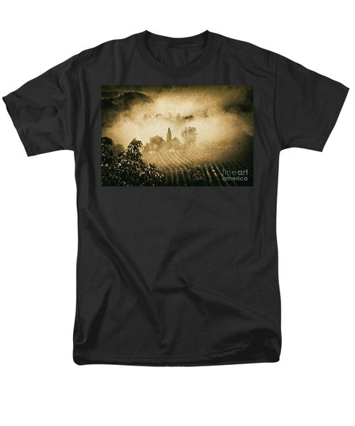 Men's T-Shirt  (Regular Fit) featuring the photograph Foggy Tuscany by Silvia Ganora