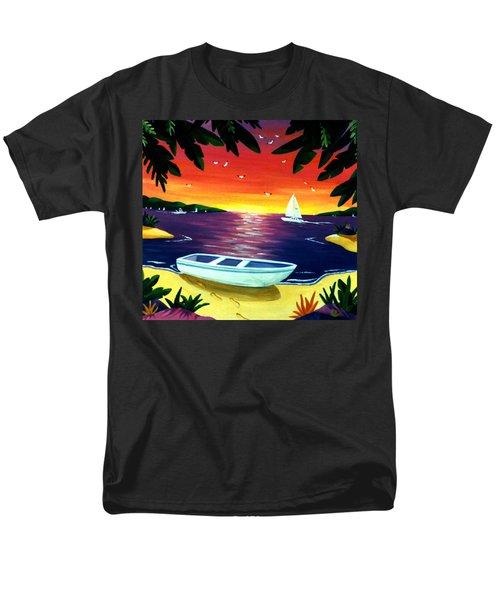 Footprints In Paradise Men's T-Shirt  (Regular Fit) by Lance Headlee
