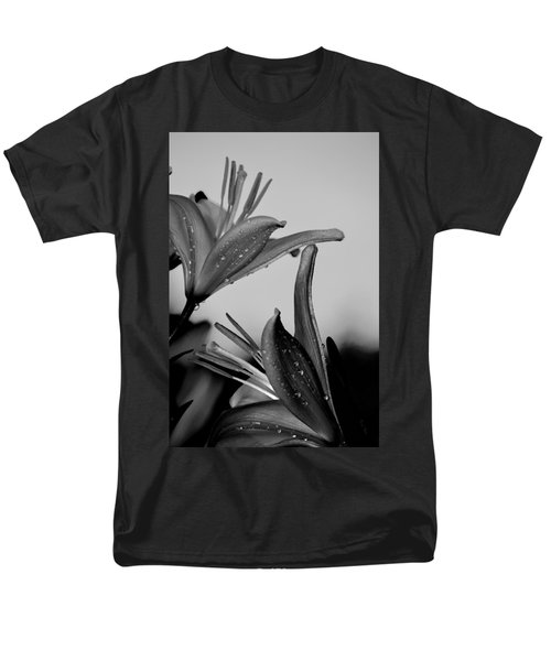 For The Love Of Lillies Bw Men's T-Shirt  (Regular Fit) by Lesa Fine