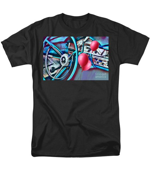 Ford Fairlane 500 Dashboard- Warhol-esque Men's T-Shirt  (Regular Fit) by Liane Wright
