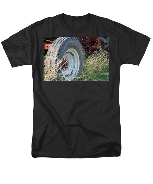 Men's T-Shirt  (Regular Fit) featuring the photograph Ford Tractor Tire by Jennifer Ancker