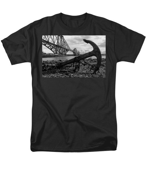 Men's T-Shirt  (Regular Fit) featuring the photograph Forth Bridge Anchor by Jeremy Voisey