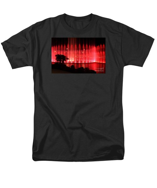 Men's T-Shirt  (Regular Fit) featuring the photograph Fountain Of Red by Geraldine DeBoer