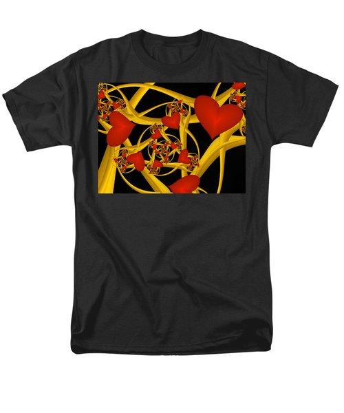 Fractal Love Ist Gold Men's T-Shirt  (Regular Fit) by Gabiw Art