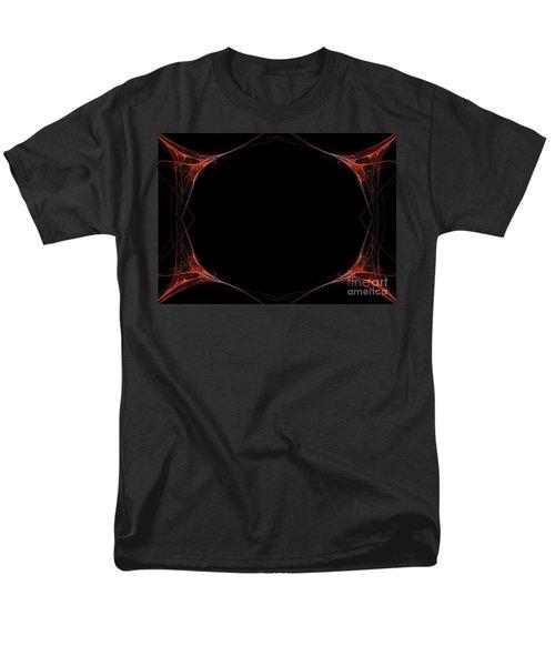 Men's T-Shirt  (Regular Fit) featuring the digital art Fractal Red Frame by Henrik Lehnerer