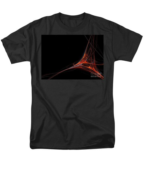 Men's T-Shirt  (Regular Fit) featuring the photograph Fractal Red by Henrik Lehnerer