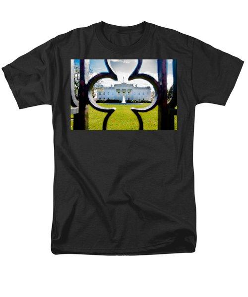 Framed Whitehouse Men's T-Shirt  (Regular Fit) by Greg Fortier