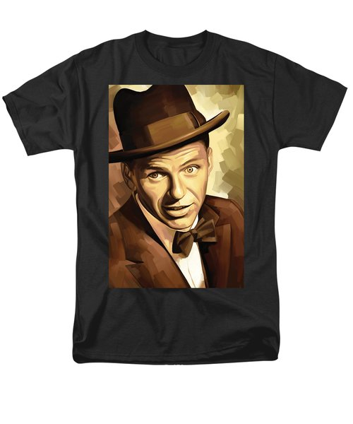 Frank Sinatra Artwork 2 Men's T-Shirt  (Regular Fit) by Sheraz A